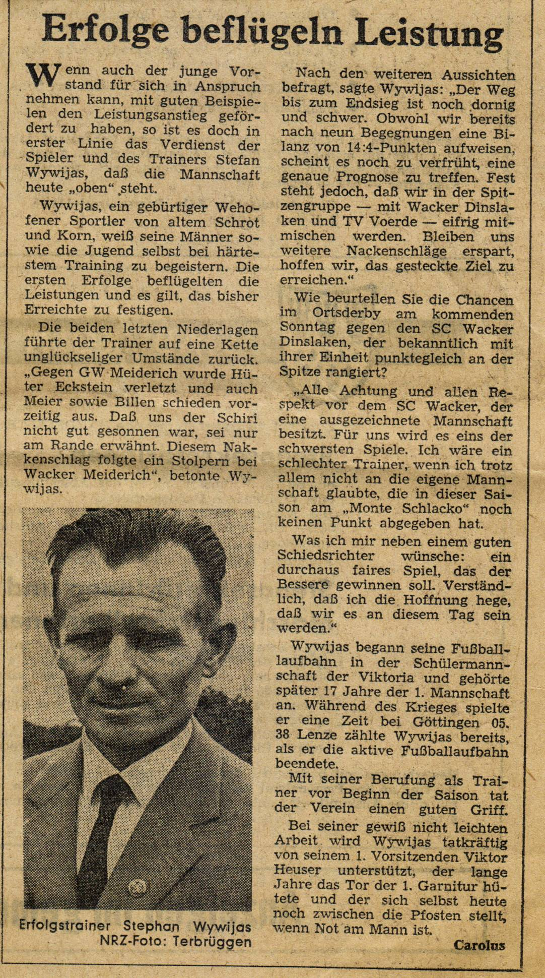 1966-zeitung-1966-Trainer-Stephan Wywijas-Erfolge-